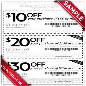 Kirklands printable coupons