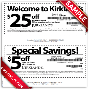 Kirklands printable coupons free