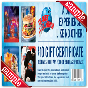 Latest Planet Hollywood Coupon for 2016