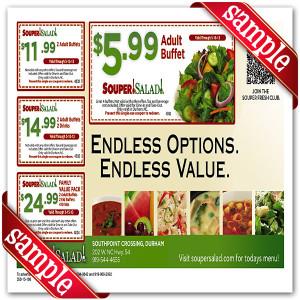 Latest Souper Salad Coupon for 2016