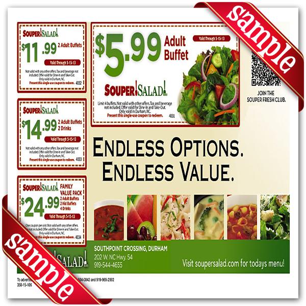 Soup and salad coupon 2018