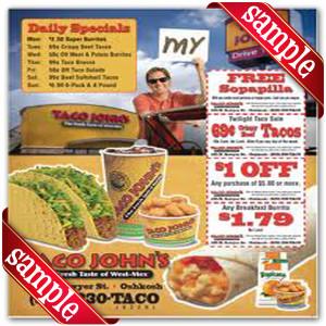 Latest Taco John Coupon for 2016