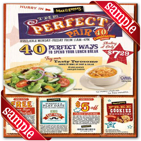 photograph about Red Robin Printable Coupons identified as Max and ermas coupon code / Coupon decline true debrid