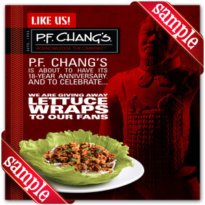 P.F. Changs Off Coupon 2016