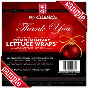 P.F. Changs Printable Coupons