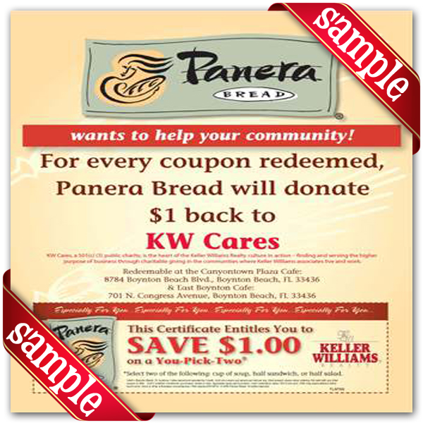 Panera bread coupon strips