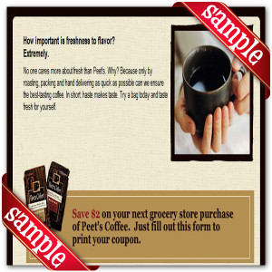 Peet's Coffee & Tea Online Coupons