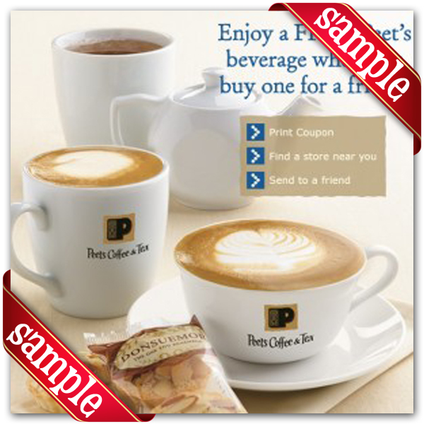 picture relating to Peet Coffee Printable Coupon referred to as Peets Espresso Tea Printable Coupon December 2016