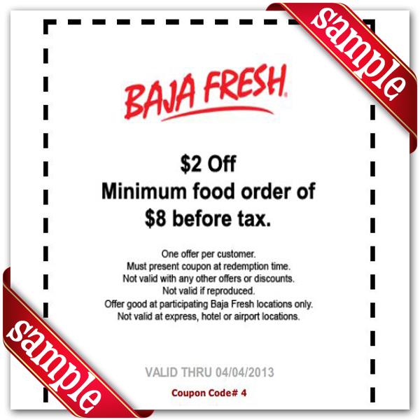 image relating to Baja Fresh Coupons Printable named Baja Clean Printable Coupon September 2019