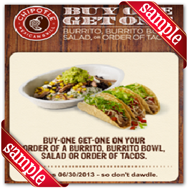 It's just a picture of Critical Chipotle Printable Coupons