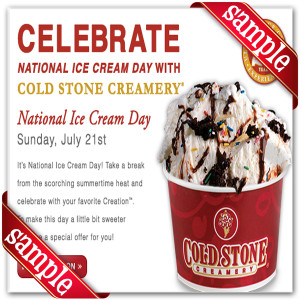 graphic about Cold Stone Printable Coupon identify Chilly stone weekly offers : Avis discount coupons codes british isles