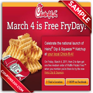 Printable Coupon For Chick-Fil-A
