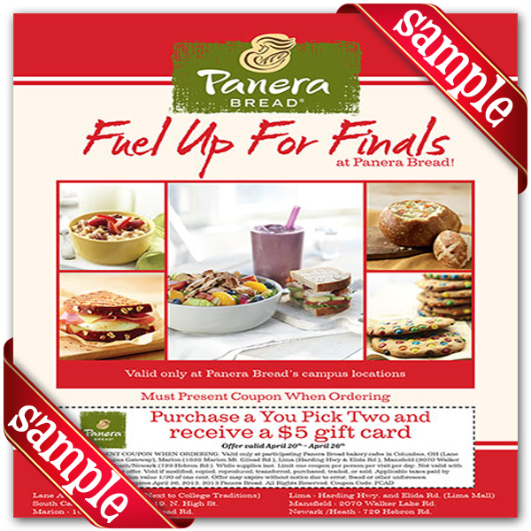 Panera coupon codes