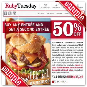 Ruby tuesday coupon codes