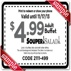 Printable Souper Salad Coupons