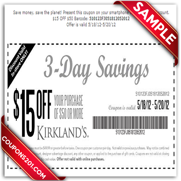 Printable coupon Kirklands. Kirklands Printable Coupon December 2016