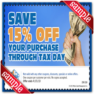 Save 15 White Castle Coupon