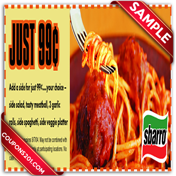 If the thought of Sbarro gets your mouth watering, you're going to love how much you can save using one of their 8 coupons for December. While these coupons will get you a great deal, new offers are being added daily. Sbarro is best known as a pizza chain, but you might be surprised to learn their menu .