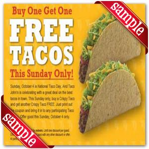 Taco John Online Coupons