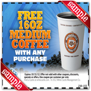 White Castle free 16oz Coupon