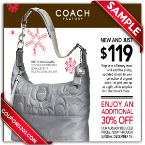 discount coupons for Coach
