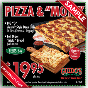 free Guido's Pizza coupon