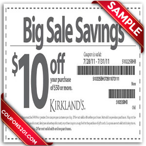 free Kirklands printable coupon