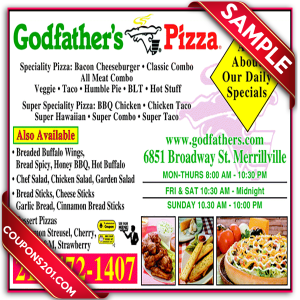 free coupon Godfather's pizza