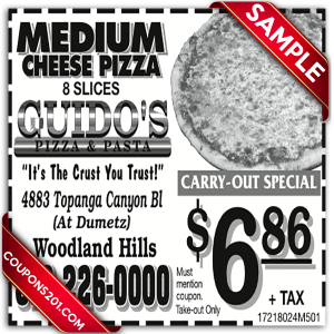 free coupon Guido's Pizza printable