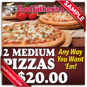 free coupons Godfather's pizza