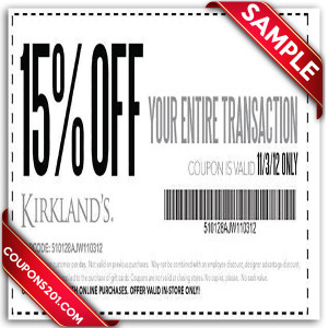 free coupons Kirklands