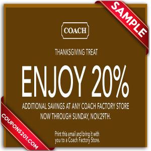 free printable coupon Coach