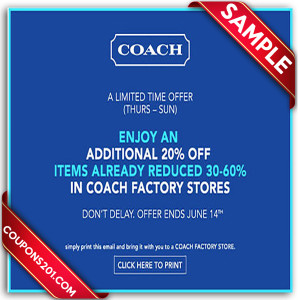 free printable coupons coach