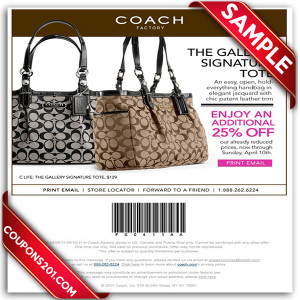 free printable coupons for Coach