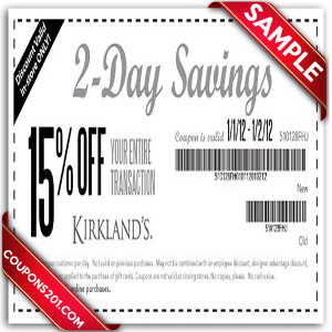 printable Kirklands coupons