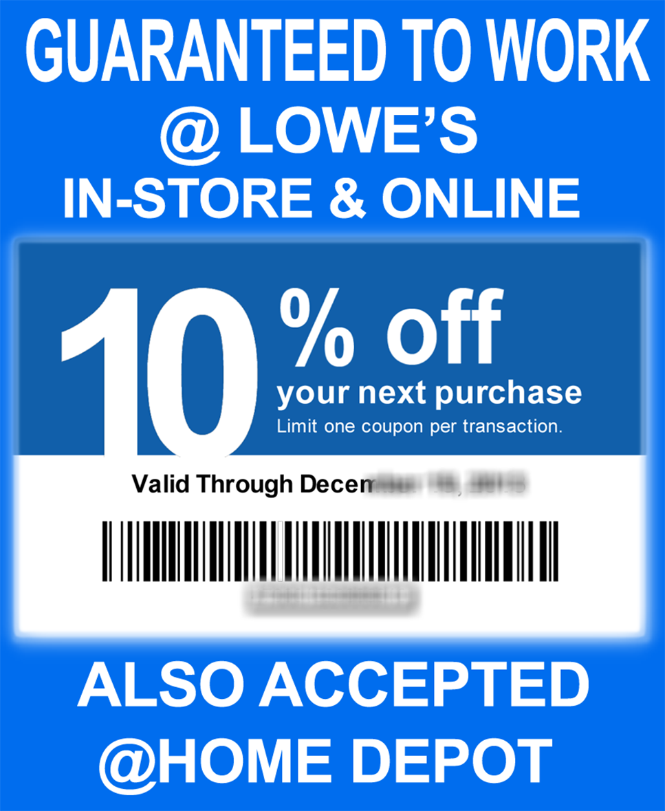 Discount coupon lowes